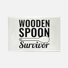 Wooden Spoon Survivor Rectangle Magnet