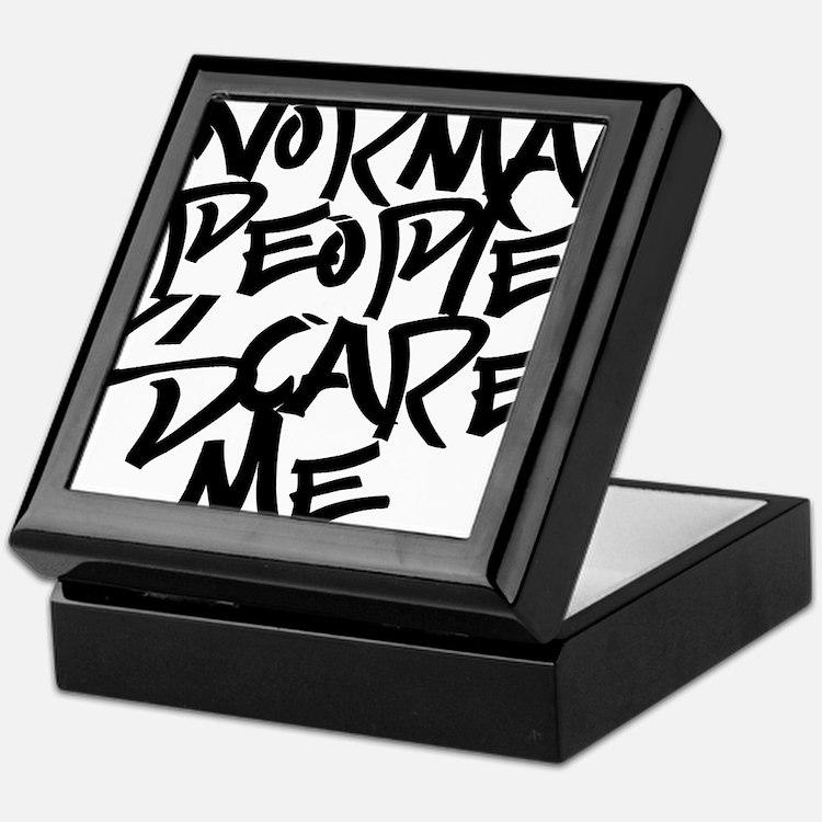 Cute Normal people scare me Keepsake Box