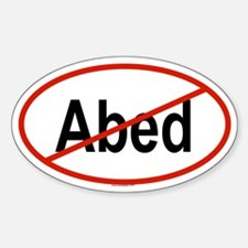 ABED Oval Decal