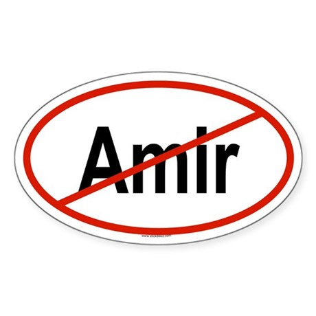 AMIR Oval Sticker