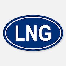 LNG Oval Bumper Stickers