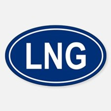 LNG Oval Decal