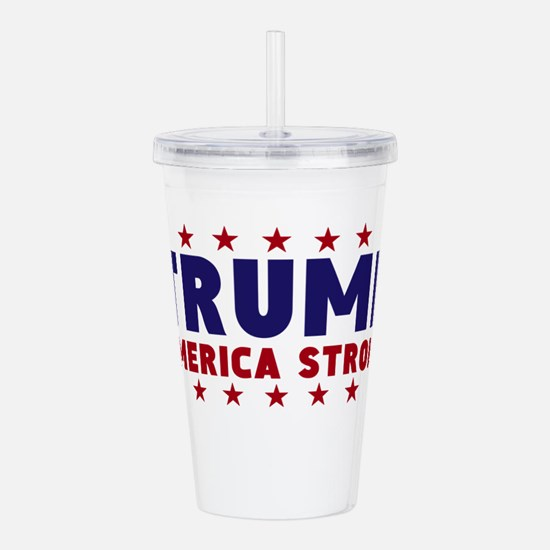 Trump America Strong Navy Red Font Acrylic Double-