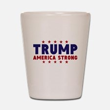 Trump America Strong Navy Red Font Shot Glass