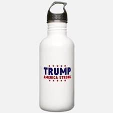 Trump America Strong Navy Red Font Water Bottle