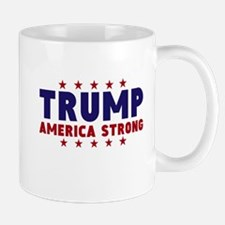 Trump America Strong Navy Red Font Mugs