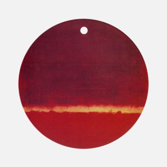 ROTHKO ORANGE RED Round Ornament
