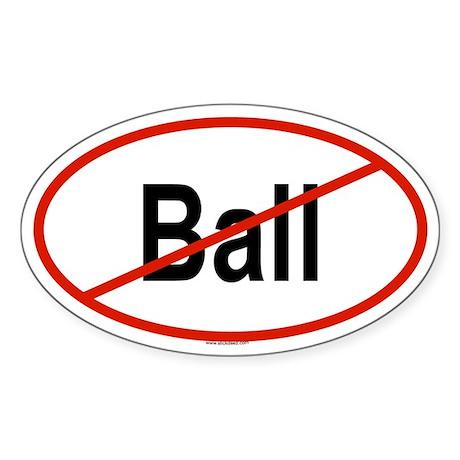 BALL Oval Sticker