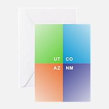 Four Corners - 4 Corners Greeting Cards