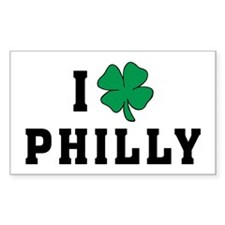 I Shamrock Philly Rectangle Decal
