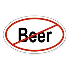 BEER Oval Bumper Stickers