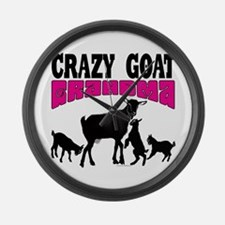 GOAT LOVER | Crazy GOAT Grandma P Large Wall Clock