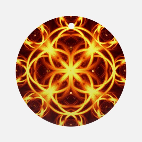 Cool Sacred geometry Round Ornament