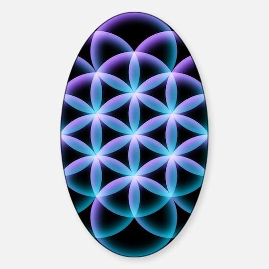 Funny Sacred mandala Sticker (Oval)