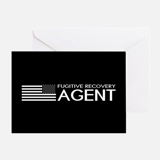 U.S. Flag & Fugitive Recovery Agent Greeting Card