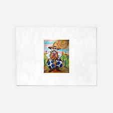 Cowboy! Fun western art! 5'x7'Area Rug