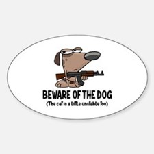 Cute Beware of dog sign Decal
