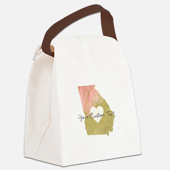 Personalized Georgia State Canvas Lunch Bag