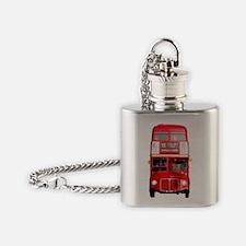 Unique London bus Flask Necklace