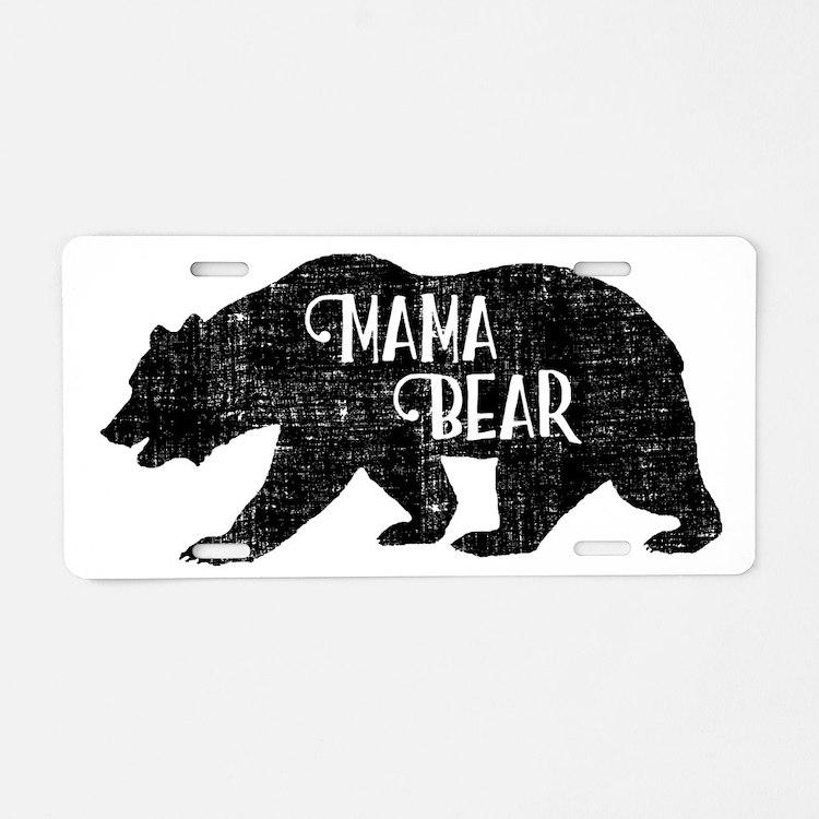 Mama Bear - Family Collecti Aluminum License Plate
