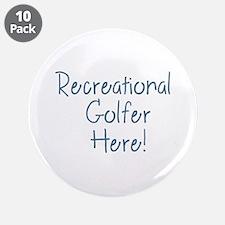 """Recreational Golfer 3.5"""" Button (10 pack)"""