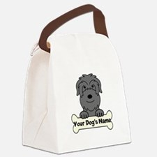 Personalized Black Russian Canvas Lunch Bag