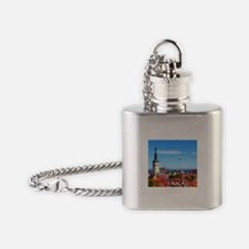 Flying Ball of the Sky Flask Necklace
