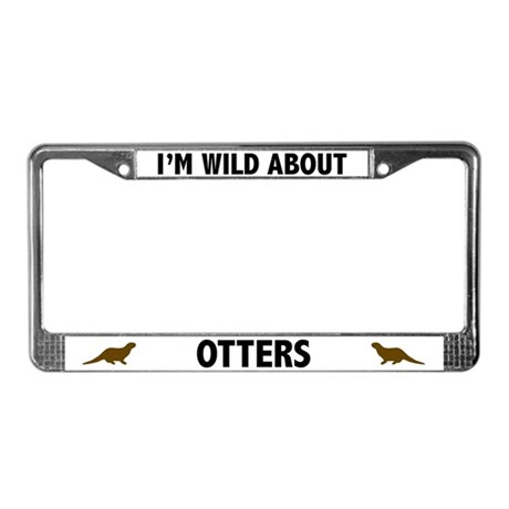 Wild About Otters License Plate Frame