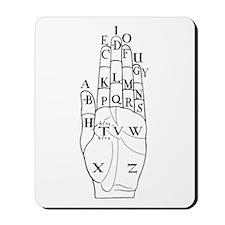 DALGARNO HAND BLACK Mousepad
