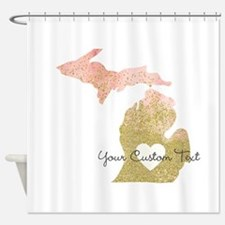 Personalized Michigan State Shower Curtain