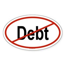 DEBT Oval Decal