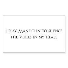 I Play mandolin To Silence Th Sticker (Rectangular