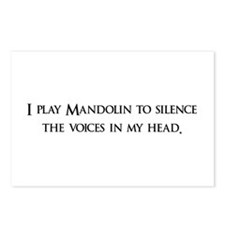 I Play mandolin To Silence Th Postcards (Package o