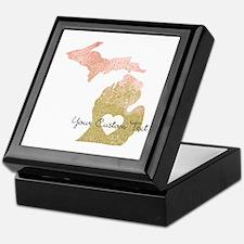 Personalized Michigan State Keepsake Box