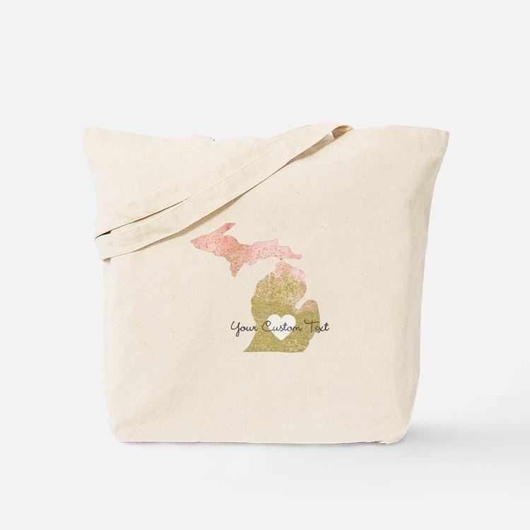 Personalized Michigan State Tote Bag