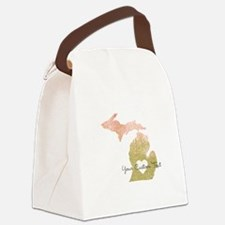 Personalized Michigan State Canvas Lunch Bag