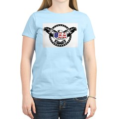 God Bless American Eagle Women's Pink T-Shirt