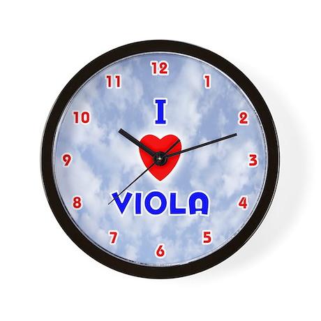 I Love Viola (Red/Bl) Valentine Wall Clock