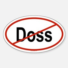 DOSS Oval Decal