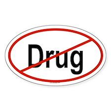 DRUG Oval Decal
