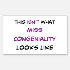 not miss congeniality Sticker (Rectangle)