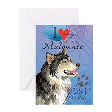 Alaskan Malemute Greeting Card