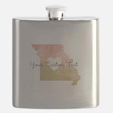 Personalized Missouri State Flask