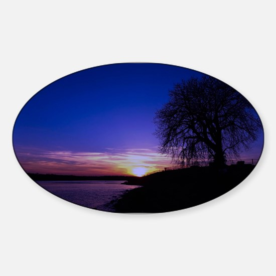 A Tree,a River, and a Sunset Decal