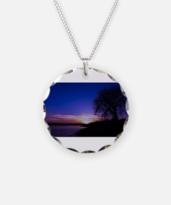 A Tree,a River, and a Sunset Necklace