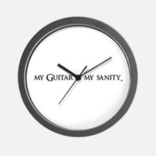 My Guitar Is My Sanity Wall Clock
