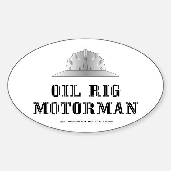 Motorman Oval Decal