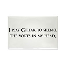 I Play Guitar To Silence The Rectangle Magnet