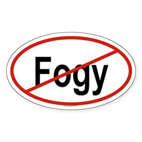 FOGY Oval Sticker
