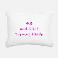 43 Still Turning Heads 2 Pink Rectangular Canvas P
